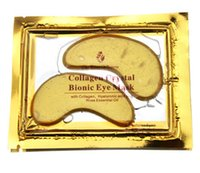Wholesale 2016 Anti Wrinkle NEW Crystal Collagen Gold Powder Eye Mask Golden Mask stick to dark circles