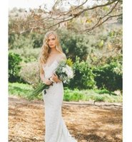 Cheap Lace Wedding Dresses Spaghetti Straps Sexy Backless A Line Sleeveless Applique Sweep Train Long Bridal Gowns boho maxi dress