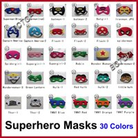 Wholesale Superhero masks Superman Batman Spiderman TMNT Frozen kids Cosplay masks cartoon kids Superman Party Cosplay Masks Hot Sale