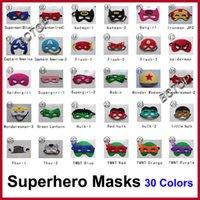 batman costumes sale - Superhero masks Superman Batman Spiderman TMNT Frozen kids Cosplay masks cartoon kids Superman Party Cosplay Masks Hot Sale