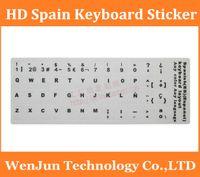 alphabet spanish - High definition Spanish keyboard sticker computer alphabet spain stickers laptop desktop grind arenaceous transparent order lt no track