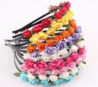 Wholesale NEW Bride Bohemian Flower Headband Festival Wedding Floral Garland Hair Band Headwear Hair Hoop Headpiece JJAL ZH112