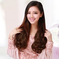 Wholesale Hair extension Clip in Hairpieces Feathers new Fashion Women jf048 Grils Long On clip Wavy Accessories Hair piece cm inch