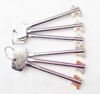 safe deposit box - Safe Deposit Box Brass Dual Deadbolt Lock with sets of Keys Locksmith Tools Practising Training Skills