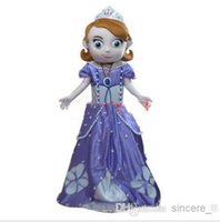 Cheap 2016 New Free Shipping Deluxe Sofia Mascot Costume, Sofia Mascot Costume Real Pictures! Fans do a gift for free