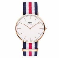 Wholesale Fashion Daniel Wellington DW Watch Women and Man leather nylon WELLINGTON watch luxury brand DANIEL gold DW clock daniel colors