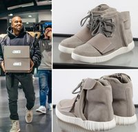 Wholesale Brand New Kanye West Yeezy Boost Sneakers Ankle Boots Basketball Shoes Best Quality Athletic Boot Outdoor Shoe SIZE