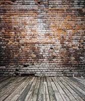 Precio de Vinil fondos de fotografía-Simple sin fondo de fotografía de arrugas 200 * 150 cm (6.5 * 5 pies) Fondo de pared de ladrillos de madera roto Vinyl Photo Backdrop Photo Studio