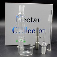 Wholesale Nectar Collector Kit Micro NC mm with Quartz titanium nail Nectar Pipe Titanium Nail smoking water pipe TZ608