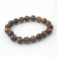 Beaded, Strands balance tiger - Pure color natural tiger eyes stone mm beads jewelry bracelet have a balance function