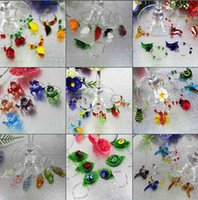 wine glass charm - Murano glass handmade christmas wine glass charms bar tools