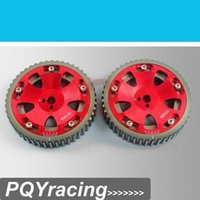 Wholesale J2 RACING STORE Cam Gears Pulley For MITSUBISHI EVO ECLIPSE DSM G63 RED PQY6538R