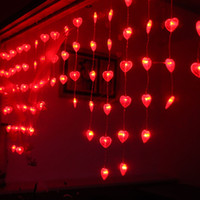 bead string partitioning - Romantic LED Bead Curtain Light m m Partition Heart Porch Door Curtain Christmas Backdrop Tent Fly Xmas Wedding Party String Lights