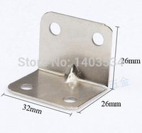 angle iron support - 25pcs mm Iron angle bracket T shape nickel plated frame board support