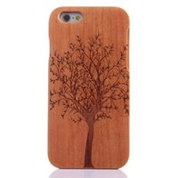 apple wood carving - Free ePacket Natural Wood Handmade Hand Carved Wooden Case Cover for iPhone6 inch iPhone6 Inch Classic Deign Chinese