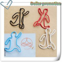 Wholesale Top selling high quality color a people paper clip life series of shaped clip cute and funny bookmark