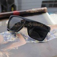 Wholesale Hot Retro Vintage Oversize Eyewear Black Full Frame Plastic Frame Sunglasses Shades