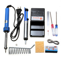 Wholesale New Top Hot Sale Electric Soldering Starter Tool Kit Set With Iron Stand Desoldering Including Accessories order lt no track