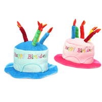 adult amusement park - Adult Birthday Cake Candle Hat Short Plush Children Colors For Party Amusement Park Supplies Performing Dress Props