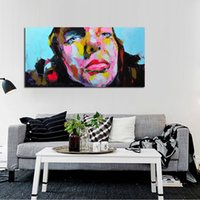 Cheap Handmade Modern Abstract Decorative A Woman Wearing a mask Oil Painting On Canvas Wall Art For Living Room As Unique Gift