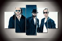 bee gees - 5 Panel No Framed Printed Bee Gees band Painting on canvas room decoration print poster picture canvas back to the future