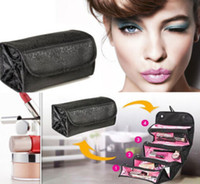 Wholesale Hot Selling Women Lady Cosmetic Makeup Case Zip Pouch Travel Toiletry Make Up Bag Organizer BX161