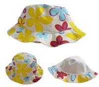 baby outdoor activities - Outdoor Children Cap Bucket Hat Summer Floral Activities Sun Baby Hat Cotton Fisherman Hats Cute Caps