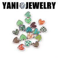 bulk charms - Alloy Resin Heart Bulk Charms for Bracelet Mix Style Floating Lockets Charms for DIY Glass Locket Necklaces