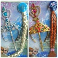 Congelados Anna Elsa princesa Tiara coroa cabelo banda Magic Wand para crianças menina Mix modelos Cartoon para crianças melhor navio livre de presente