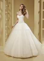 Cheap Fantastic Full Crystals Princess Ivory Wedding Dress Ball Gown Sexy Open Back Customize Girl Wedding Dresses Made In China