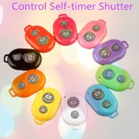 Wholesale superior Bluetooth Remote Camera Control Self timer Shutter for iPhone plus S C S for Galaxy S4 Note3 Smartphones Tablet