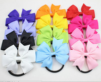ribbons and bows - hot sale New Ribbon Hair Bow with Band for Girl and Woman Hair Accessories Elastic Bow Hair Tie Rope Hair Band