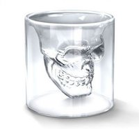 wholesale drinks - Doomed Crystal Skull Head Vodka Shot Glass Cup Beer Wine Whisky Drinking Cup Ware for Home Bar Party Creative Double Glasses Cup ML Q3