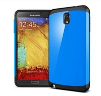 Cheap Hard Hybrid PC+Silicone SLIM ARMOR Colorful Hard Case Cover For Samsung Galaxy Note 3 N9000 Free Shipping MOQ:10pcs