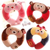Cheap Wholesale-Metoo easy bear monkey rabbit cartoon cute animal plush doll gifts u shape travel pillow neck