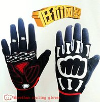 Wholesale morethan Authentic Cycling mountain biking gloves outdoor sports half finger gloves skull reflective