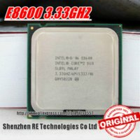 Wholesale Original E8600 INTEL CORE DUO E8600 Processor GHz M DUAL CORE FSB MHz Desktop LGA CPU shipping envelope