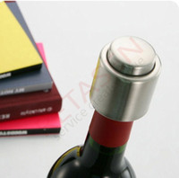 Wholesale Stainless Steel Vacuum Sealed Red Wine Storage Bottle Stopper Plug Bottle Cap Pressing type red wine Stopper
