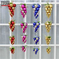best polypropylene - Christmas Decoration Supplies New Best Happy Christmas Balls Christmas Tree Grape pendant jewelry