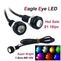 Wholesale 30pcs Daytime Running Lights Car LED Lights Auto Parking Light Eagle Eye cm V W Waterproof Colors