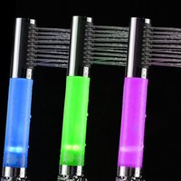 Wholesale Water Flow Powered LED Hand Shower Head Colorful New Arrival Abs Plastic Chrome Douche