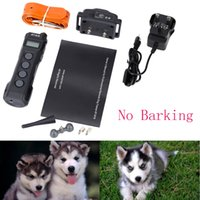 Wholesale 2015 New Rechargeable Water Resistant Electric Shock Collar Excellent Behavioral Training Supplise for Dog order lt no track