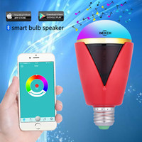 Wholesale Bluetooth Smart LED Light Bulb Speaker Smartphone Controlled Dimmable Multicolored Color Changing Lights Works with iPhone iPad Android