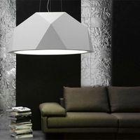 Wholesale Modern Simple Fabbian Pendant Lamp Creative Personality Rhombohedral Chandelier Resin Glass Pendant Light Masonry Section lamp