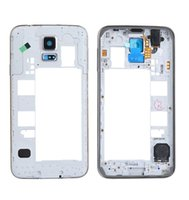 Wholesale OEM Samsung Galaxy S5 i9600 G900A G900V G900T Rear Back Housing Middle Bezel Frame Camera Lens Cover Silve