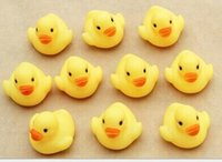 Wholesale Cheap wholeslea Baby Bath Water Toy toys Sounds Yellow Rubber Ducks Kids Bathe Children Swiming Beach Gifts