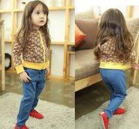 Wholesale New Jeans For Baby Girls Denim Blue Solid Casual Pants Meninas Infantil Trousers Costume Bebes Disfraz