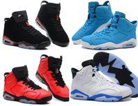 Wholesale Brand Mens Retro Toro Bravo Sports Blue carmine Infaraed Basketball Shoes Air Athletic Trainers