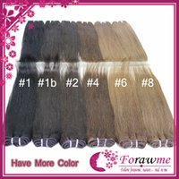 Wholesale Human Hair Weave Multiple Color Straight Indian Hair weft jet black chocolate brown honey blonde dark auburn j burgundy