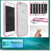 aluminum parts - 2015 newest TPU Metal Case Aluminum Frame for iphone plus Prevent scratch shockproof bumper iphone case In some parts of Free DHL